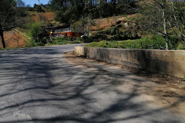Se hunde tramo carretero en la Zacapoaxtla – Tlatlauquitepec