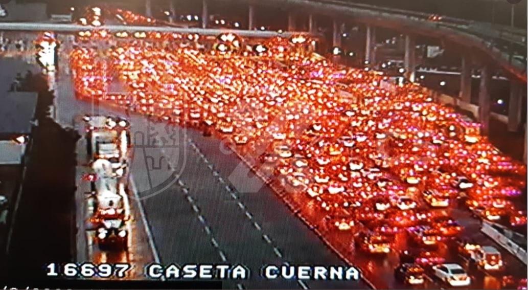 Pese a pandemia, así lució la autopista México-Cuernavaca; internautas lo criticaron