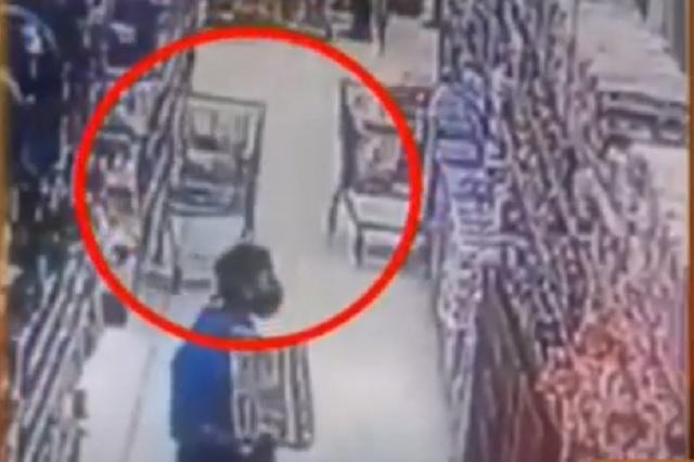 "Cámaras de seguridad captan a ""fantasma"" en supermercado"