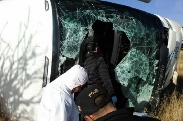 Deja accidente 6 muertos en Zacatecas