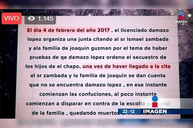Publican que los hijos del El Chapo fueron heridos en una emboscada