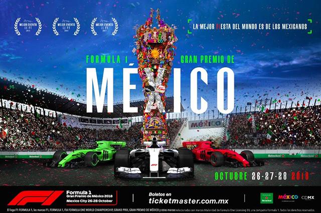 A lo México: F1 impresiona con nuevo cartel oficial del GP México 2018
