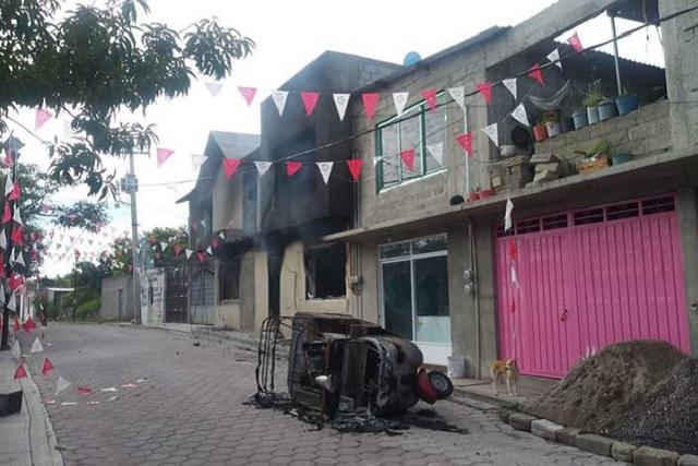 Nuevamente queman casas del edil y regidores de Juan N. Méndez