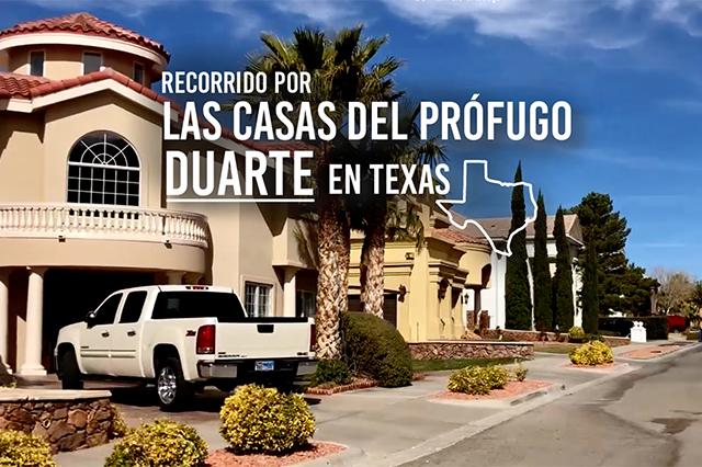 Las casas del prófugo César Duarte en Texas