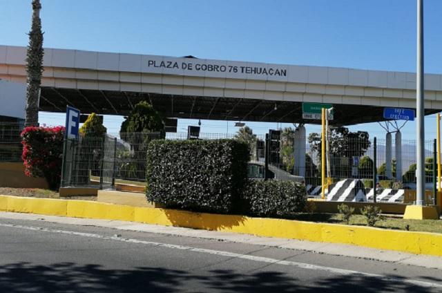 Asaltan la caseta de peaje ubicada en San Lorenzo Teotipilco
