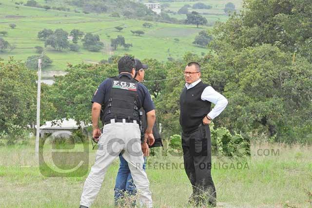 Fiscal regional supervisa diligencias del caso Huehuetlán