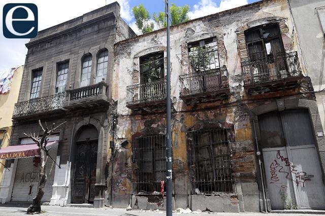 En riesgo 60 casonas del centro de Puebla por lluvias