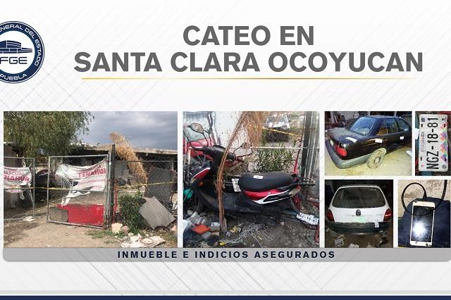 Cateo en Santa Clara  Ocoyucan da con vehículos robados