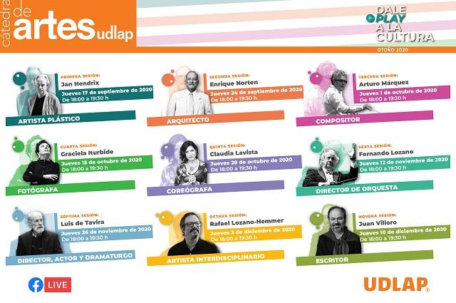 UDLAP presenta su Cátedra de Artes, espacio de divulgación