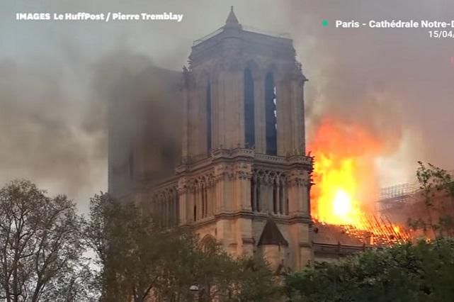 ¿Qué se dice ocasionó el incendio en catedral de Notre Dame?