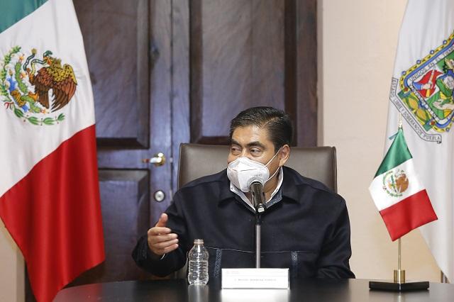 Puebla mantendrá cautela ante la pandemia: Barbosa