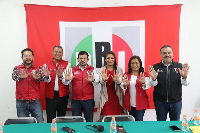 Llaman organizaciones del PRI al voto útil en favor de Jiménez Merino