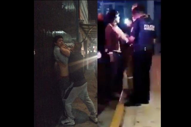 Vecinos retienen y golpean a dos ladrones en Puebla