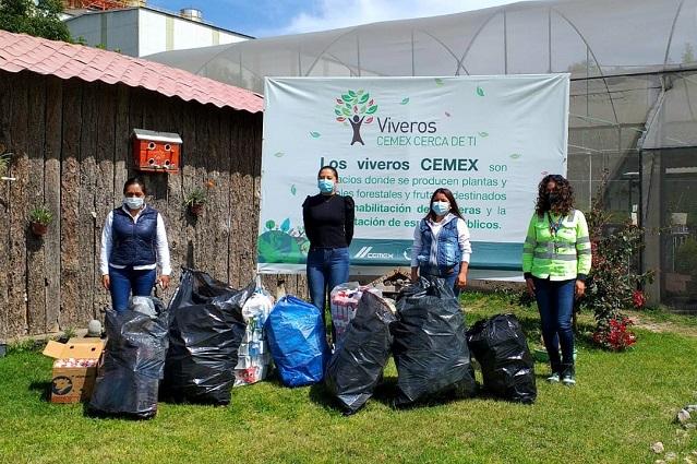 CEMEX cambia tetrapack por árboles en Tecali de Herrera