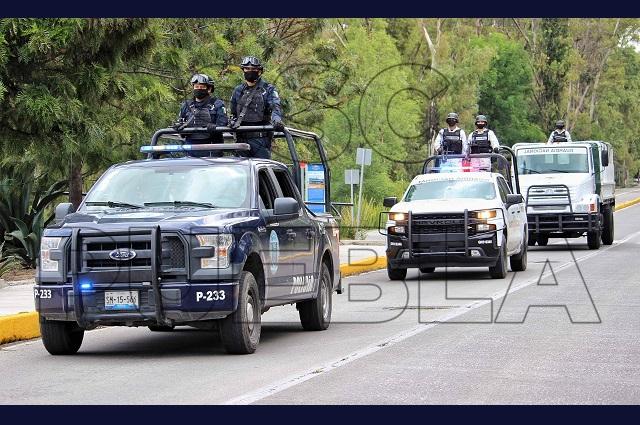 Reportan más de cien detenidos en Puebla capital, en una semana