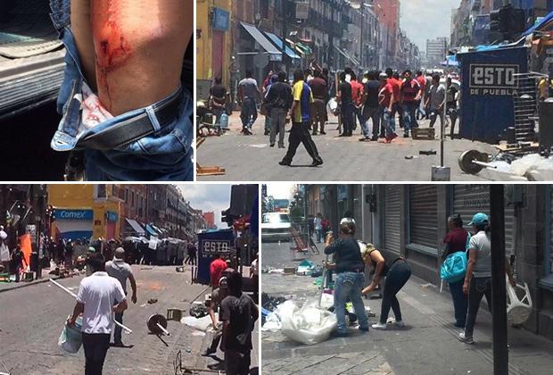 Operativo contra ambulantes deja 13 heridos 4 con arma de for Interior y policia consulta de arma
