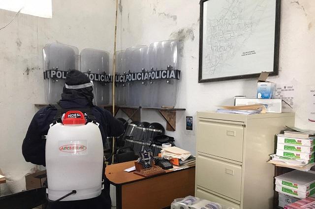 En Acatlán sanitizan CERESO para evitar casos de Covid entre reos