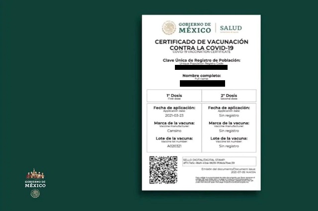 Ya venden certificados de vacunación contra Covid-19 en 600 pesos