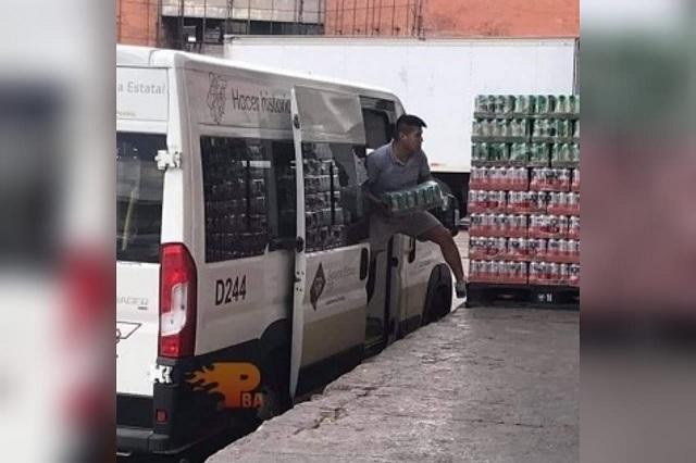 Camioneta del SEDIF que transportaba cerveza era de Ixtepec