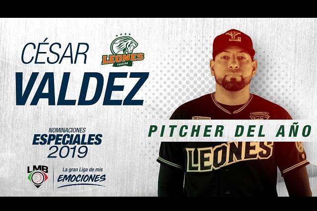 Nombran Pitcher del Año a César Valdez en la Liga de Beisbol Mexicana