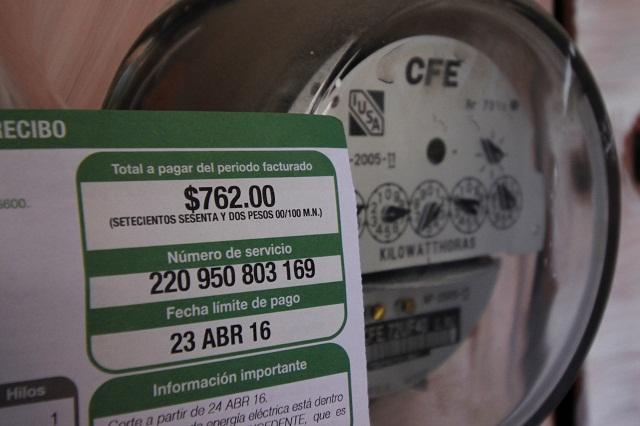 La CFE anuncia modificaciones al formato de recibo de luz