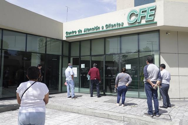 Piden a CFE disminuir costos del servicio en Tehuacán