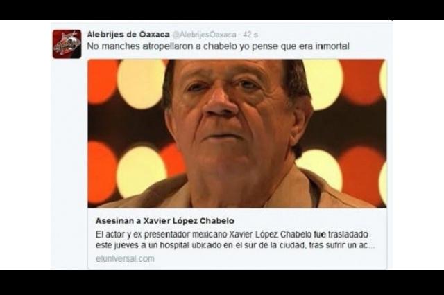 Alebrijes de Oaxaca se burla de supuesta muerte de Chabelo