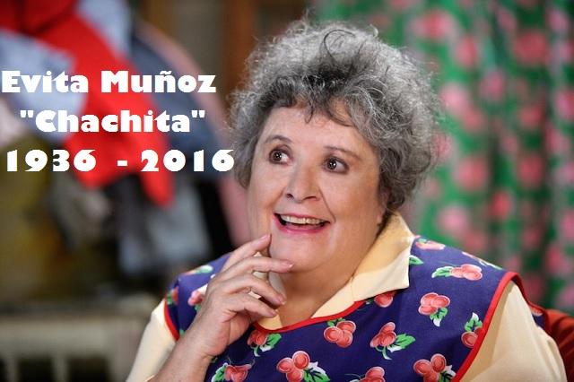 Recuerdan y despiden en redes sociales a Evita Muñoz Chachita