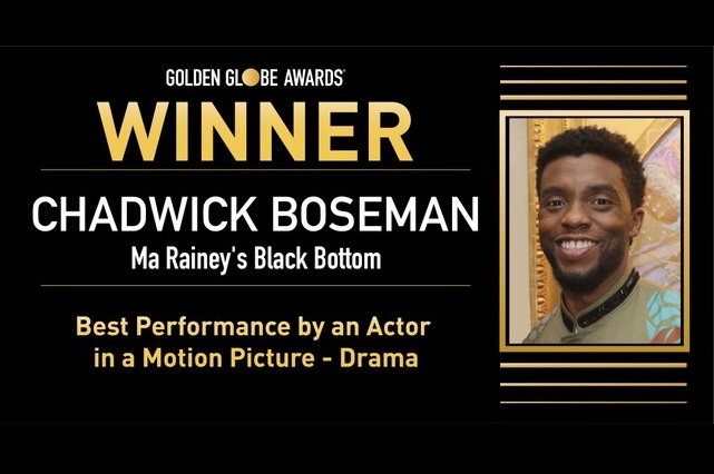 Chadwick Boseman recibe Globo de Oro póstumo