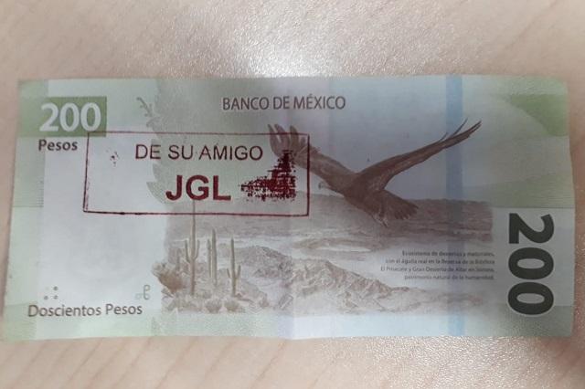 """Circulan en Culiacán """"chapo billetes"""" de 200 pesos y son legales"""