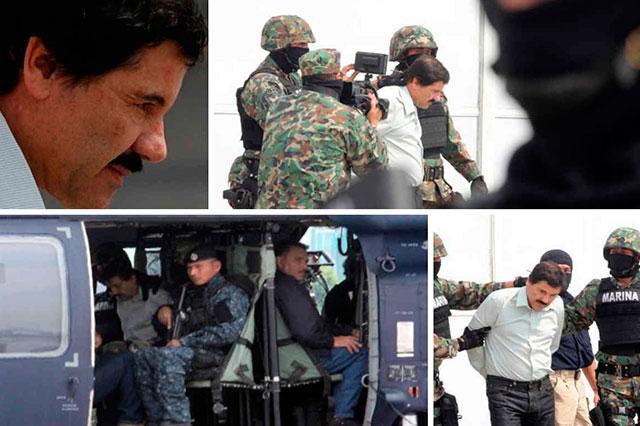La Marina termina la cacería y atrapa a El Chapo en un motel