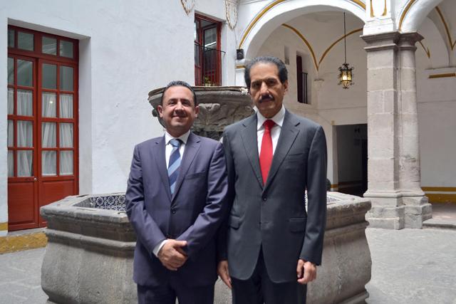 José Carlos Bernal, vicerrector de Extensión y Cultura, en la BUAP