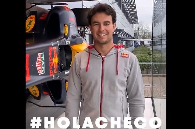 'Hola, Checo'; Sergio Pérez ya trabaja en las instalaciones de Red Bull
