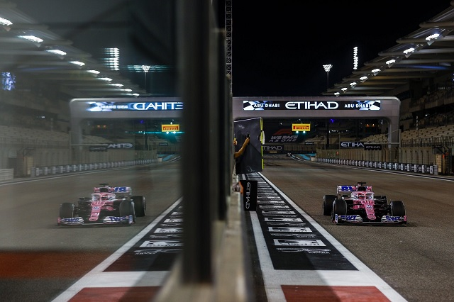 'Checo' abandona GP de Abu Dhabi; cierra el 2020 como cuarto lugar general