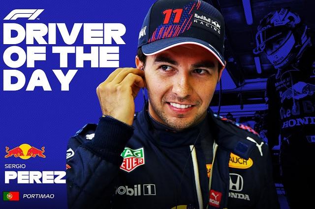 Checo Pérez es elegido 'piloto del día' en el Gran Premio de Portugal
