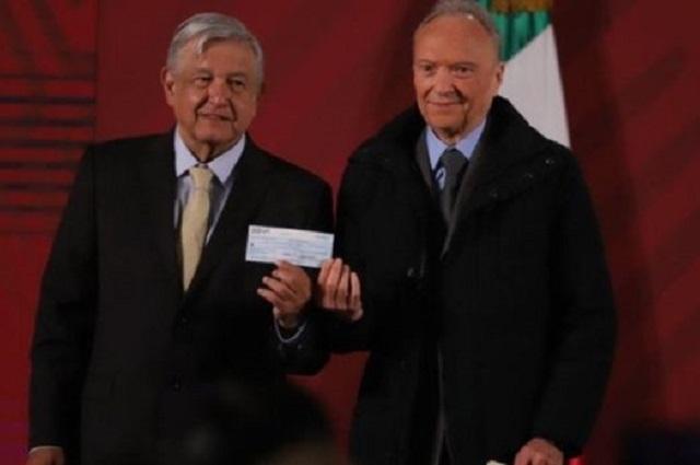 Cheque para pagar rifa del avión presidencial está congelado