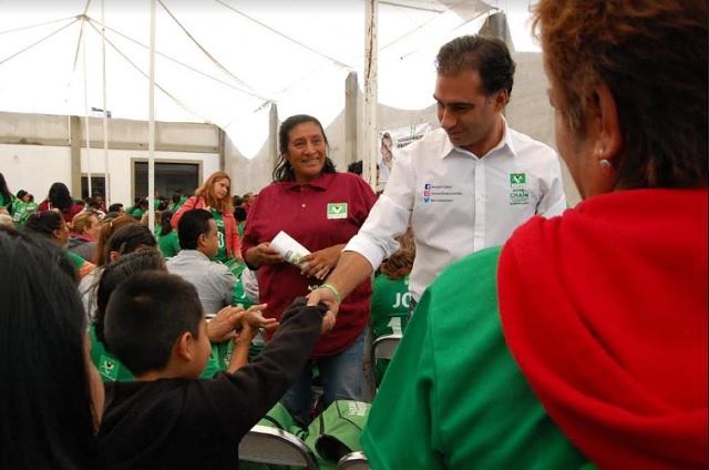 Sostiene Chaín encuentro con simpatizantes en Xonacatepec