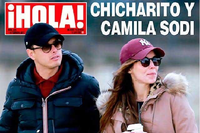 Chicharito Hernández y Camila Sodi viven romance en París