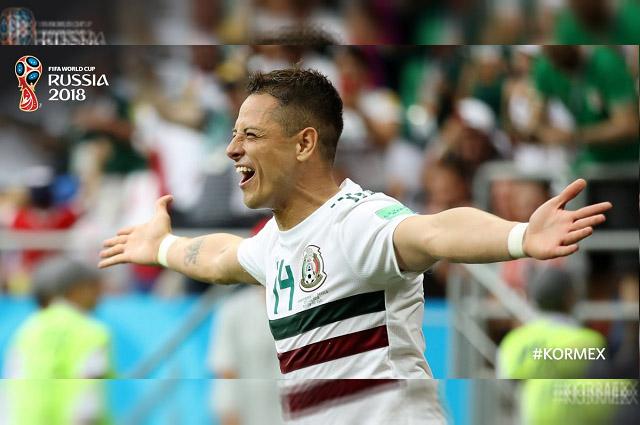 México pasa sobre Corea con goles de Vela y Chicharito