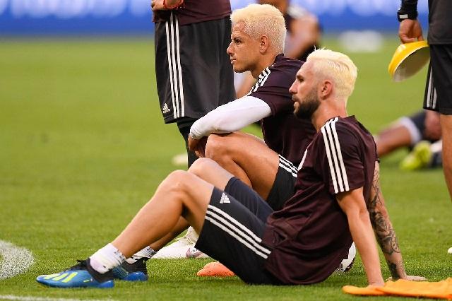 Chicharito Hernández y Layún estrenan look para enfrentar a Brasil