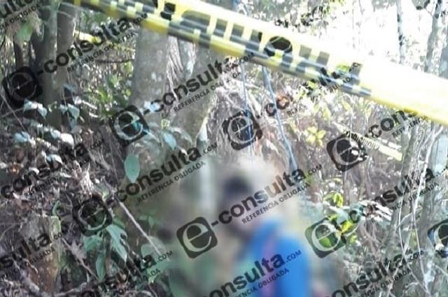 Colgado de un árbol hallan cuerpo de joven en Chiconcuautla