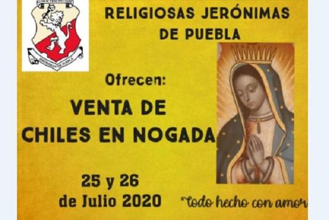 Monjas poblanas buscan ingresos con venta de Chiles en Nogada