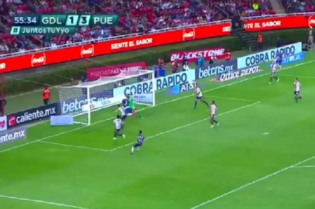 Este es el gol que anularon al Puebla que indignó en redes