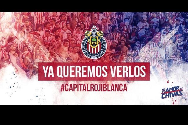 Chivas convoca a la afición capitalina para el partido ante Cruz Azul