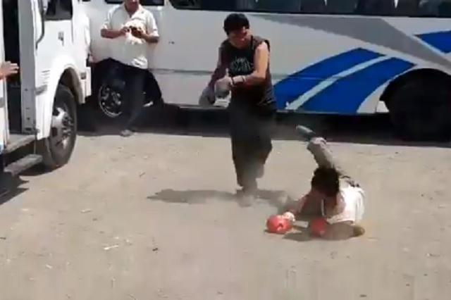 La cuarentena los aburrió: choferes de Puebla organizan peleas de box clandestinas