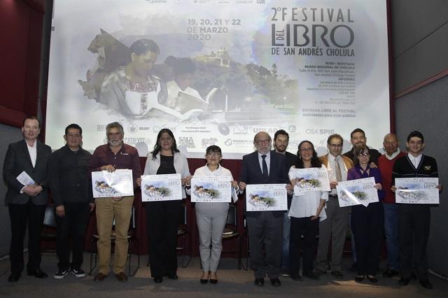 Presentaron el Segundo Festival del Libro, en San Andrés, Cholula
