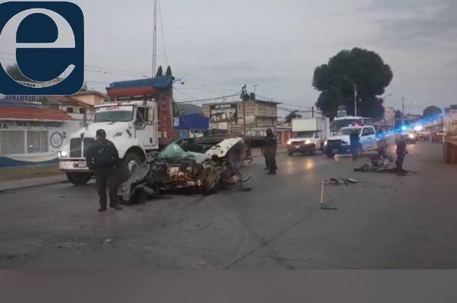 Choque frontal entre Ruta 100 y particular deja un muerto en la federal a Tehuacán