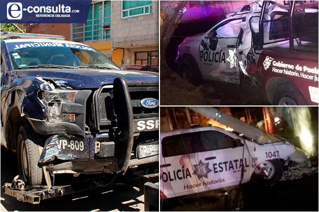 Choques de policías en Puebla casi se duplican de 2019 a 2020