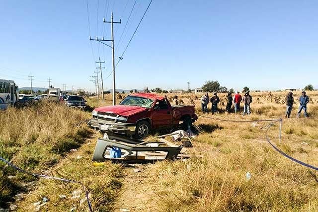 Un muerto y tres heridos deja choque en la Amozoc-Teziutlán