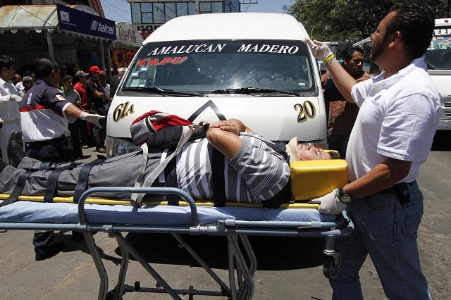 Bajan accidentes de tránsito en la capital pero hay más heridos